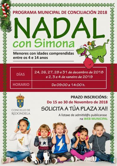 ADMITID@S no Programa Municipal de Conciliación 2018 (convocatoria Nadal)