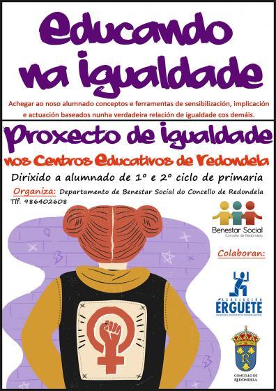 """El Departamento de Bienestar Social pone en marcha el proyecto """"Educando na Igualdade"""""""