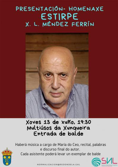 """Acto de presentación-homenaje del libro """"Estirpe"""" de X. L. Méndez Ferrín"""
