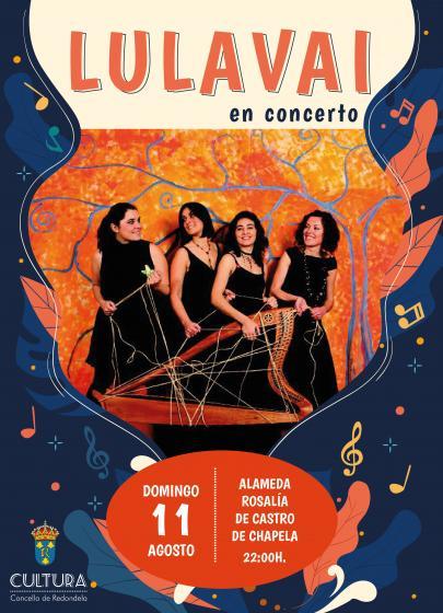 LULAVAI en Concerto, na Alameda de Rosalía de Castro.