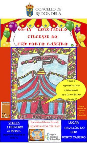 Carnaval solidario en el colegio de Porto Cabeiro