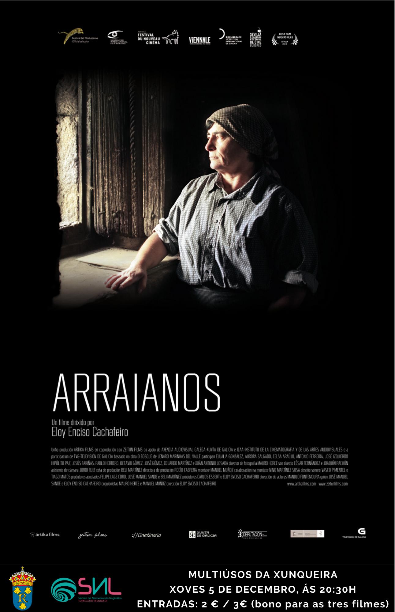 """O Servizo de Normalización Lingüística organiza a proxección da película """"Arraianos"""", de Eloi Enciso"""