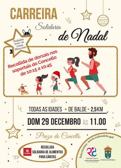 El Ayuntamiento de Redondela organiza la primera Carrera Solidaria de Navidad