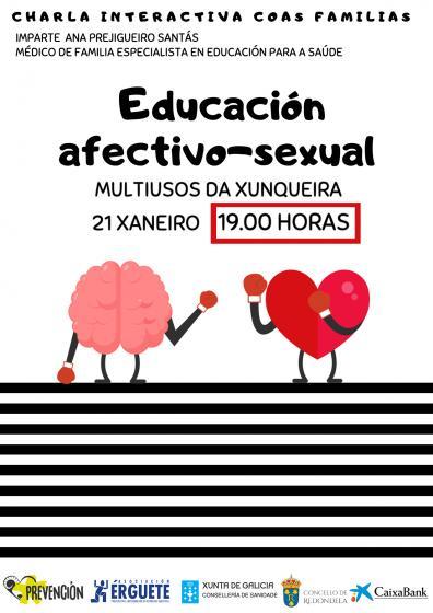 Charla sobre educación afectivo sexual en el Multiúsos de Redondela