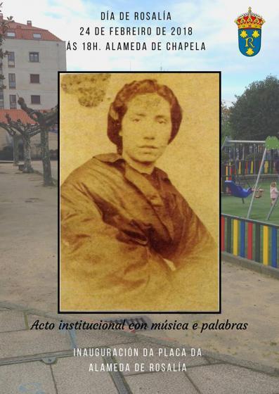 Dia de Rosalía: Acto en la Alameda de Chapela