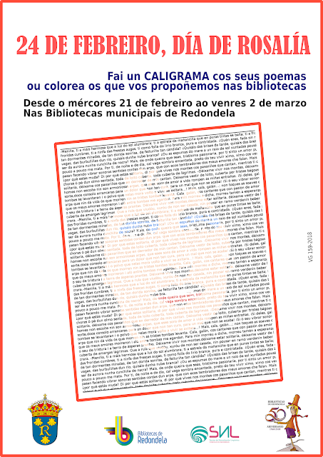As Bibliotecas Municipais tamén homenaxean a Rosalía