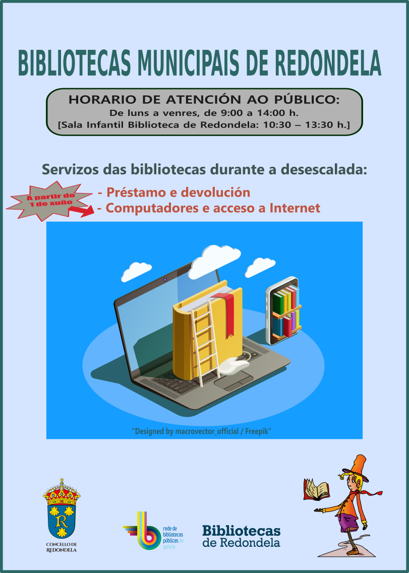 Aviso de las bibliotecas municipales de Redondela