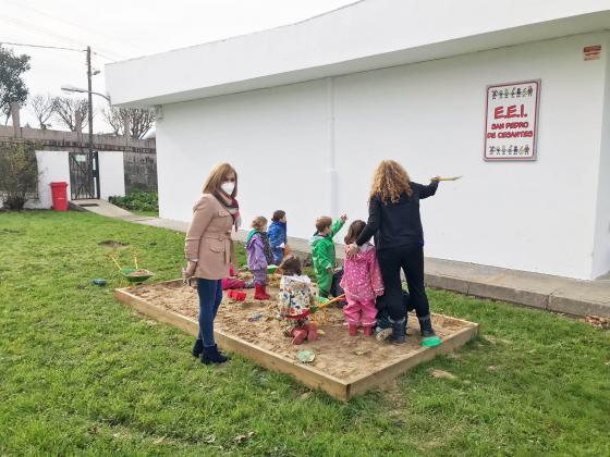 A Concellería de Ensino mellora as instalacións do EEI San Pedro de Cesantes
