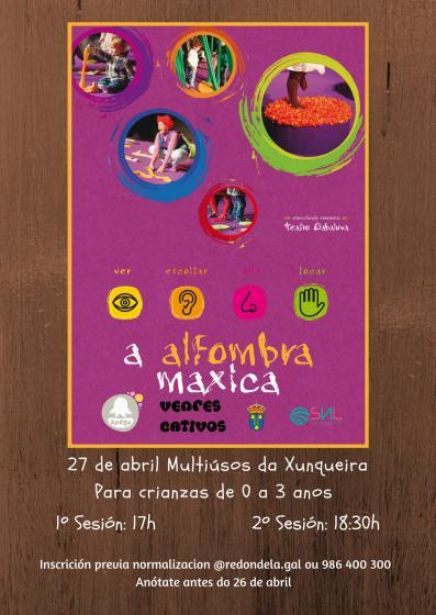 Espectáculo sensorial para bebés: A ALFOMBRA MÁXICA