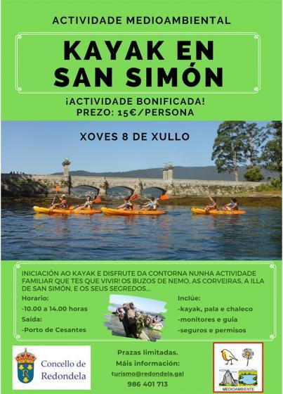 Actividad de  Kayak educativo-ambiental por la ensenada de San Simón