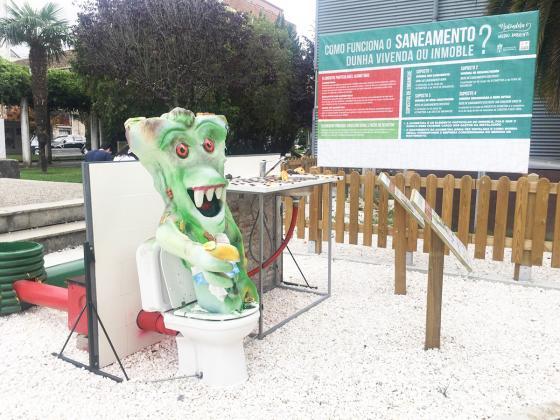 Medio Ambiente instala na Xunqueira un punto informativo sobre o saneamento das viviendas