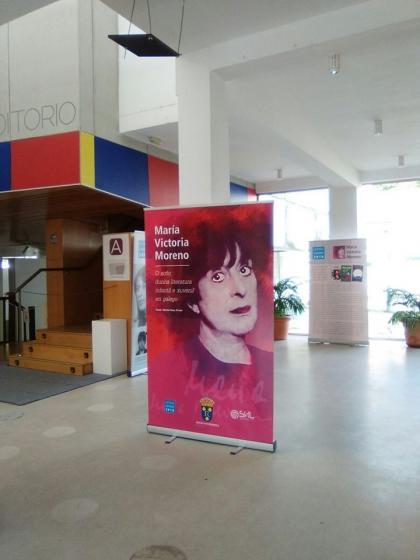 Exposición adicada a María Victoria Moreno no Multiusos de Redondela