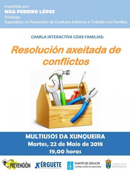 Charla sobre resolución de conflictos para familias