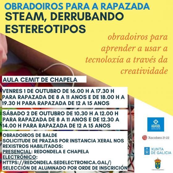 Obradoiros para a rapazada impulsados por AGASOL, AMTEGA e o Concello de Redondela na aula CEMIT de Chapela