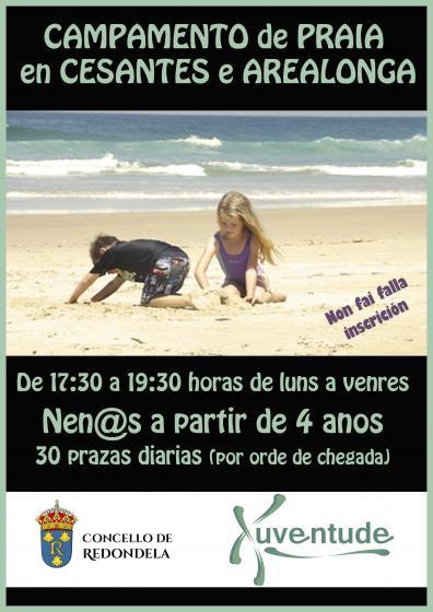 Campamentos de praia para nen@s este verán