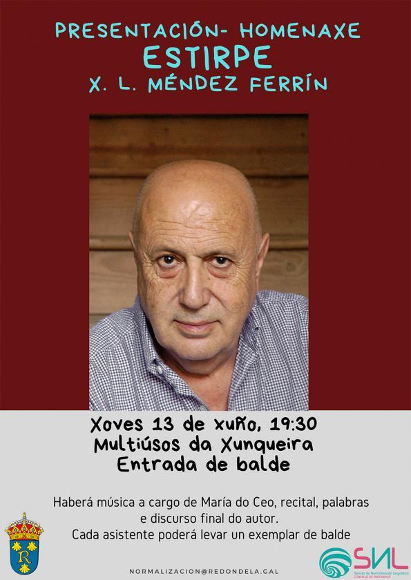 """Acto de presentación-homenaxe do libro """"Estirpe"""" de X. L. Méndez Ferrín"""