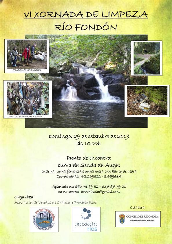 Jornadas de limpieza de los ríos de las parroquias de Chapela y  Transmañó