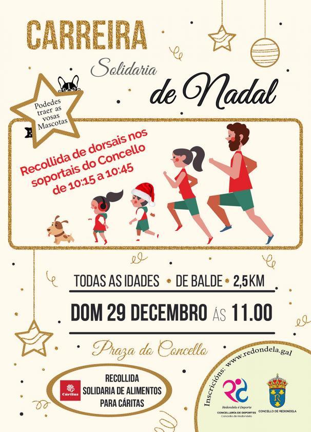 O Concello de Redondela organiza a primeira Carreira Solidaria de Nadal