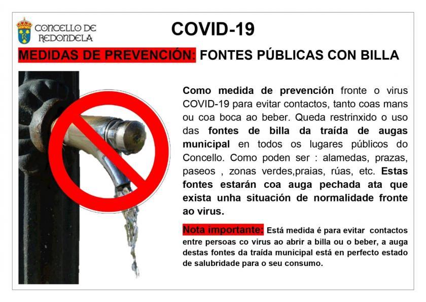 Medidas de prevención nas fontes públicas