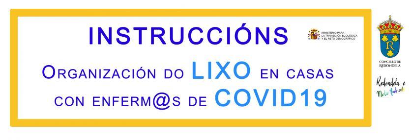 Instrucciones para gestión de residuos domésticos y COVID-19