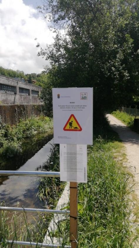 A Concellería de Medio Ambiente pecha por obras menores o paseo fluvial do río Maceiras dende o 10 ata o 14 de Maio