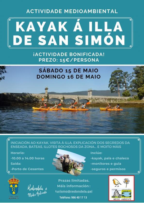 Actividade de Kayak educativo-ambiental pola enseada de San Simón