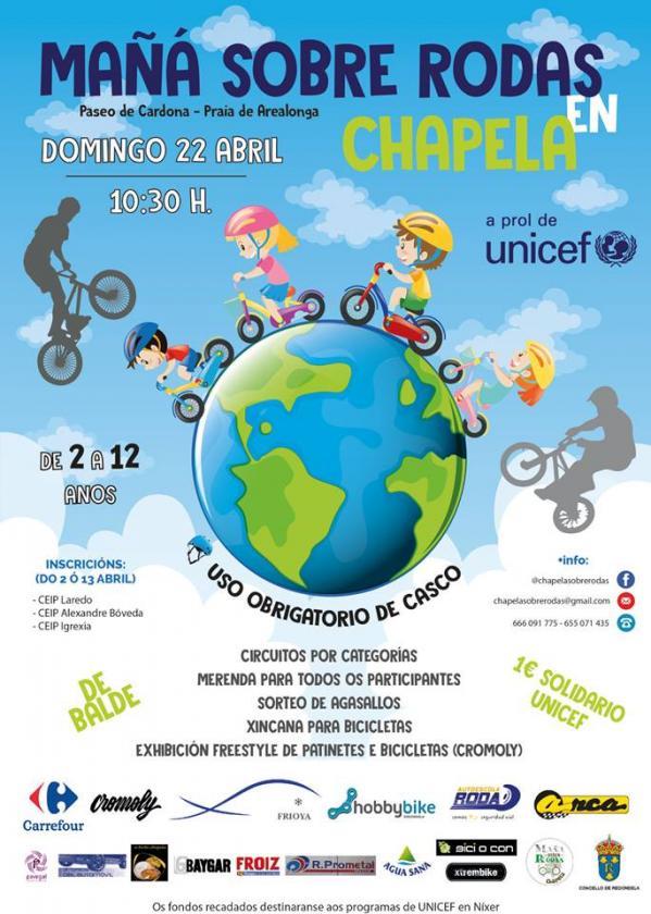 Este domingo actividade ciclista solidaria en Chapela