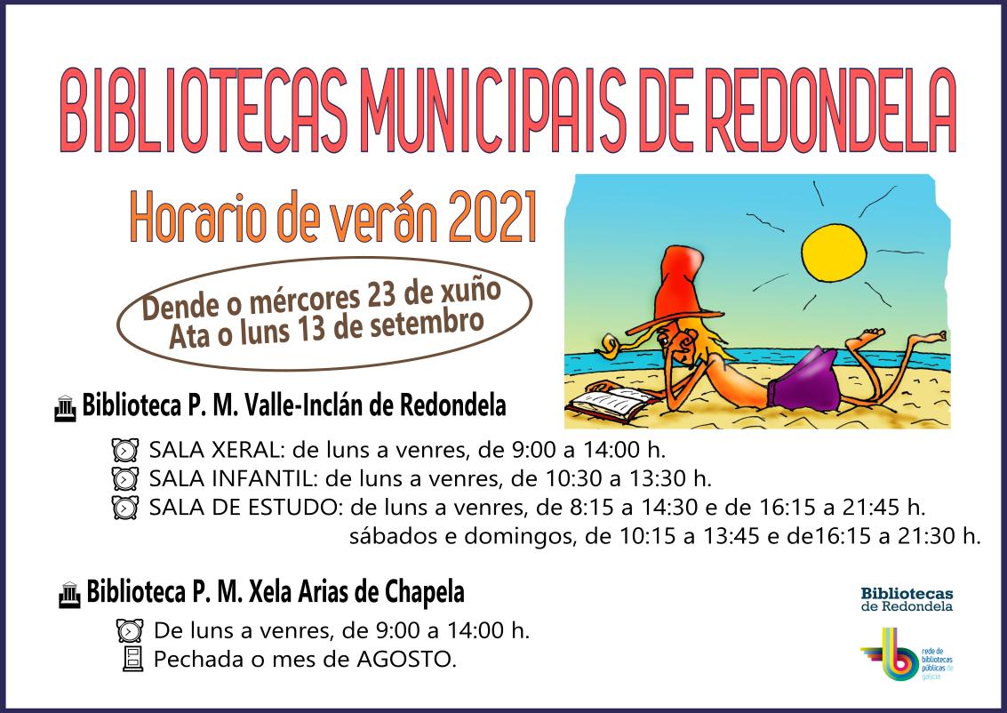 Cambio al horario de verano en las bibliotecas municipales de Redondela