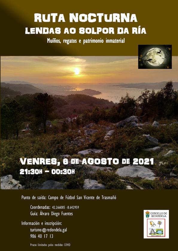 Ruta nocturna: Lendas o solpor da ría en San Vicente de Trasmañó