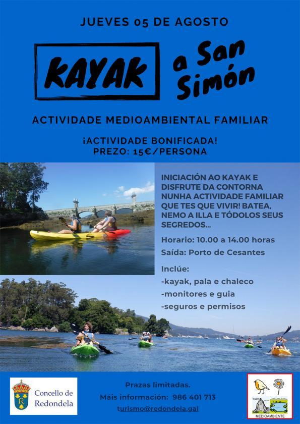 Actividade o día 23 de xullo de kayak organizada pola Concellalía de Medio Ambiente