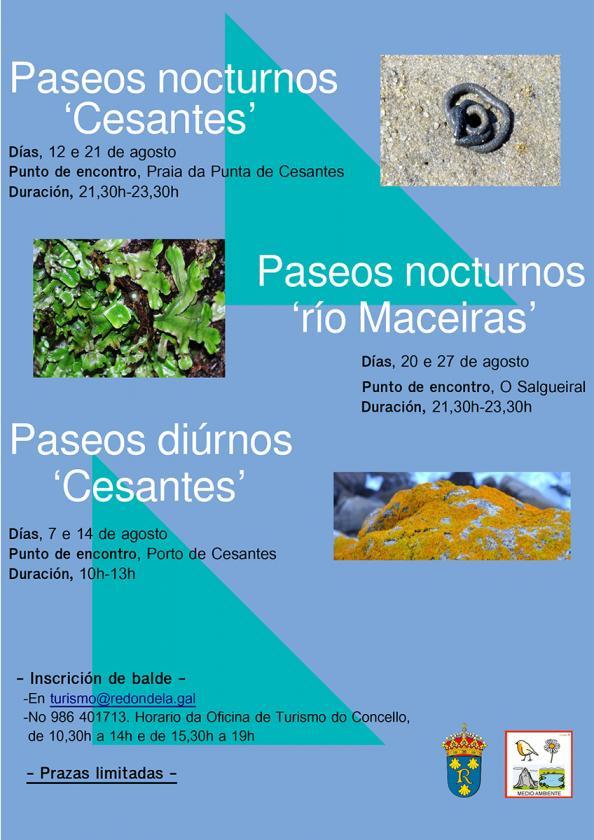 Paseos organizados pola Concellería de Medio Ambiente