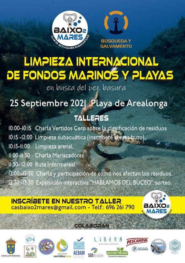 """Jornada de la """"Gran Limpieza Internacional de fondos marinos y playas"""" en Arealonga"""