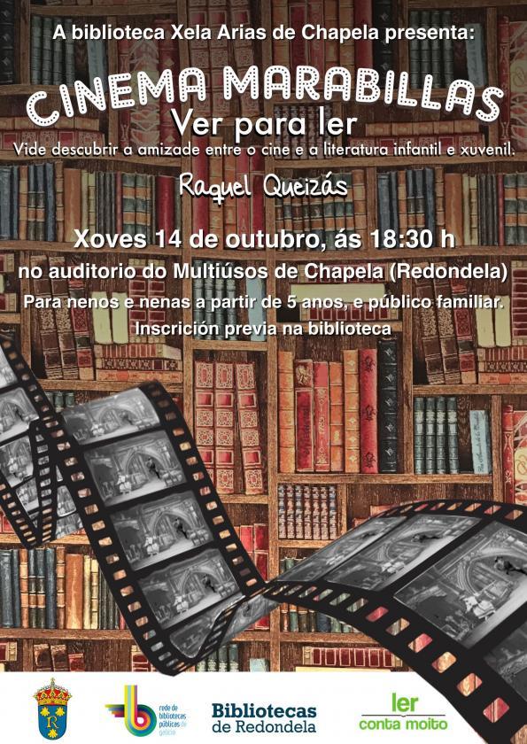"""Espectáculo """"Cinema marabillas"""", con Raquel Queizás, no Multiúsos de Chapela."""
