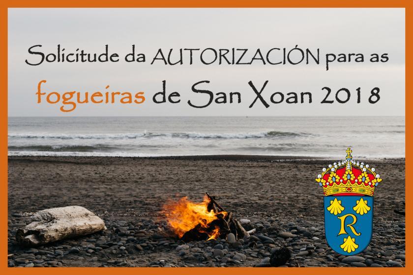 Aberto o prazo para solicitar a autorización para as fogueiras de San Xoan