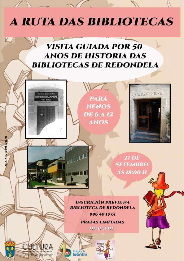 La Ruta de las Bibliotecas: visita guiada para niños, por 50 años de historia de las Bibliotecas de Redondela