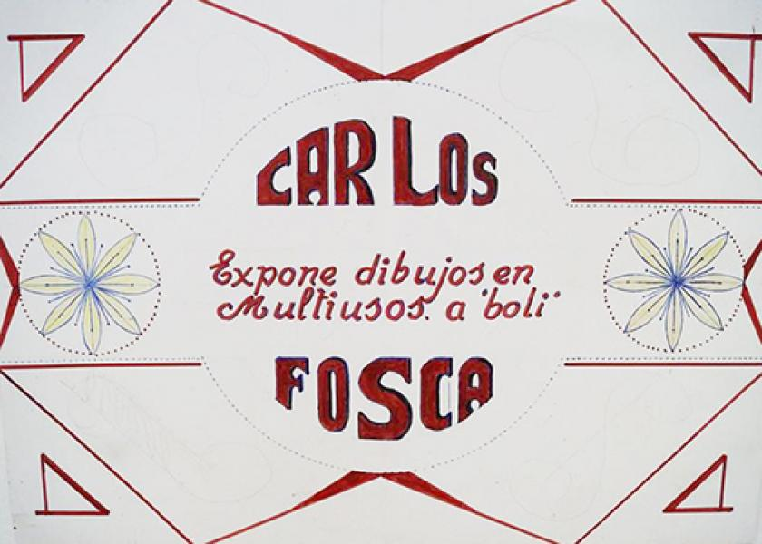 Exposición de dibujos de Carlos Fosca en el Multiusos de la Junquera